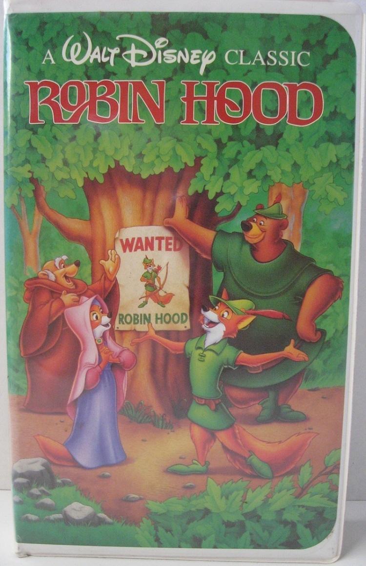 Disney Robin Hood Vhs Movie Video Tape Classic 1991 Vhs