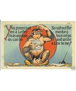 INK WELL MONKEY BUSINESS WRITE LETTER COMIC POS... - $7.07
