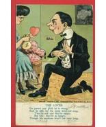 THE LOVER POEM HEART MONEY BAG 1906 POSTCARD - $4.95