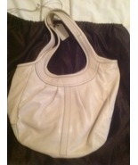 EUC Coach ivory white leather handbag shoulder ... - $120.00