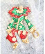 Fantastic Crystal Rhinestone & Enamel Clown Bro... - $12.95