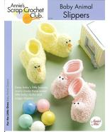 ANNIE'S BABY ANIMAL SLIPPERS~BOOTIES CROCHET PA... - £3.81 GBP