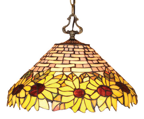 Sunflower Design Tiffany Styled Hanging Lamp