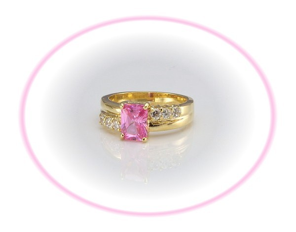 CZ Anniversary/Engagement PINK ICE - SZ 7 Beautiful!