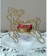 Metal Reindeer Tealight Candle Holder Christmas... - $9.45