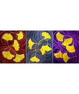 Original Set of Paintings Yellow Gingko Ginkgo ... - $1,299.00