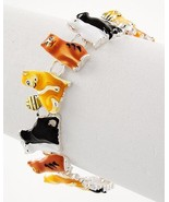 Adorable colorful epoxy cat Magnetic Closure Br... - $12.86