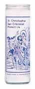St Christopher 7 Day Saint Candle