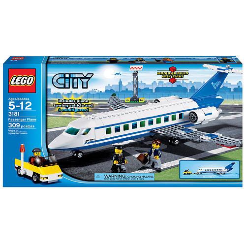 lego city 3181 passenger jet plane set city town