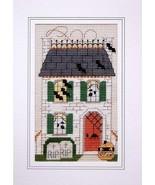 Vicki's House at Halloween victorian cross stit... - $5.40