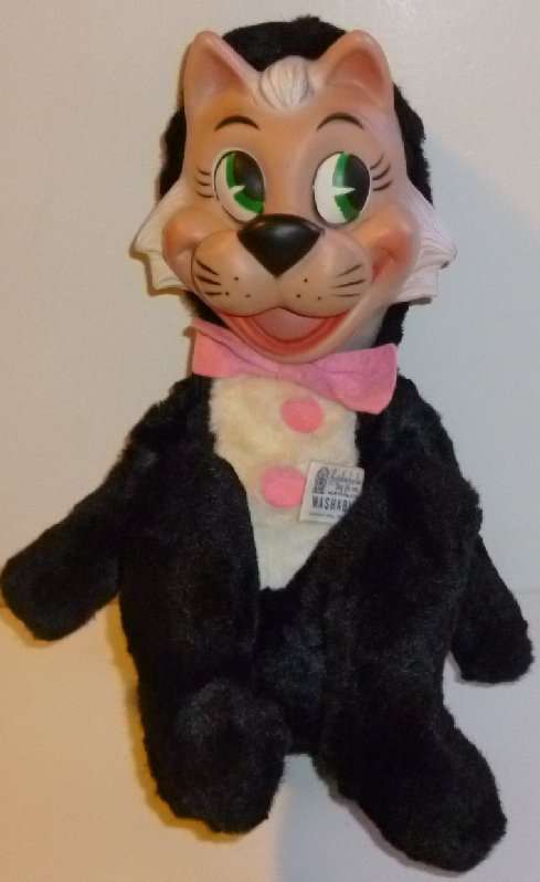 Vintage Huckleberry Hound plush MR JINKS rubber face stuffed Doll Knickerbocker