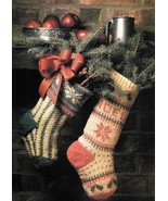 X325 Knit PATTERN ONLY Spruce and Noel Christma... - $15.45