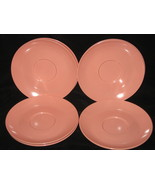 7 Vintage Boontonware Somerset Pink Saucers - $14.99