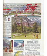 Banff Canadian Pacific RR 1940 House Beautiful Ad - $9.95