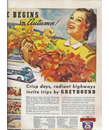 Greyhound  Bus1939 Life Mag Ad Lucky Strikes Ad... - $11.50