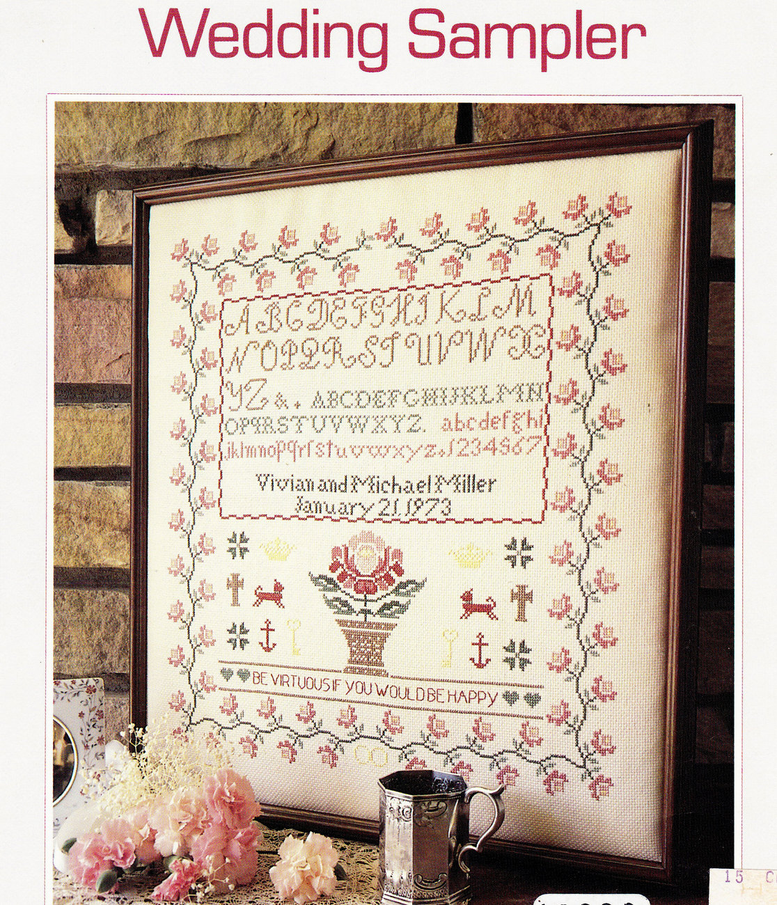 counted cross stitch wedding sampler samplers