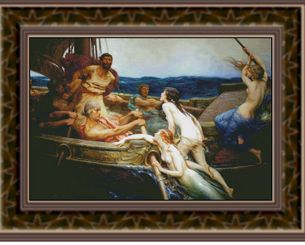 Ulysses and the Sirens, Fine Art Counted Cross Stitch Patter
