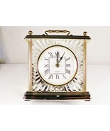 Paul Sebastian Crystal Quartz Mantle Shelf Clock Classic Timepiece NIB Frame  - $18.00