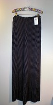 Navy blue BLACK LABEL RALPH LAUREN Silk pants! NWT - :  pants size 8 poka dots wide leg