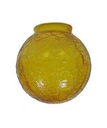 Crackle Amber Glass 3.25 X 6 Fan Light Shade Ba... - $21.95