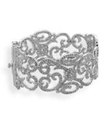Vintage Style Hinged CZ Bangle Bracelet - $679.95