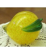 Glass Pear Blown Heavy Paperweight Decorative  ... - $13.49