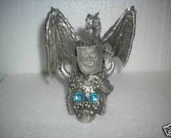 Dragon On Skull Figurine