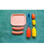 VINTAGE FISHER PRICE FUN W FOOD HOT DOG LUNCH T... - $7.50