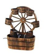 Western Wagon Wheel Buckets Electric Water Foun... - $156.00