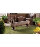 Outdoor Bench Dachshund Statue - $175.00