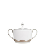 VERA WANG Wedgwood Lotus Covered Sugar Bowl Bon... - $47.87