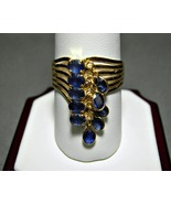 14k Gold Sapphire Charm Ring 2 Carats 3.4 Grams... - $329.99