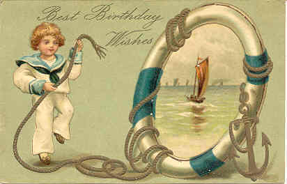 Best Birthday Wishes Vintage 1909 Post Card