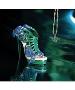 Swallowtail Metal Limited Club Edition Jewel Box & Necklace Just the Right Shoe - $129.99