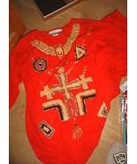 LADIES 2pc DIANA MARGO Red Soft Shirt Elastic P... - $14.99