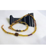 Glass Bead Necklace RKMixables Copper Collectio... - $9.00