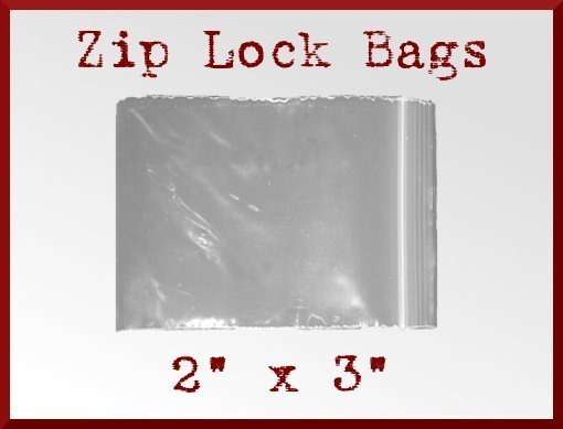 500 High Clarity Zip Lock Top Recloseable Poly Seal Bags 2 x 3 FDA USDA Approved