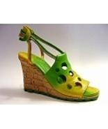 Holey Moley Funky Fresh Green Wedge Sandal Rare... - $69.99