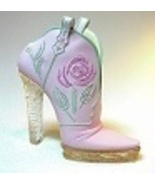 Glittering Cowgirl Pink High Heel Cowboy Boot w... - $29.99