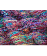 10 skein pure soft silk yarn recycled christmas... - $32.93