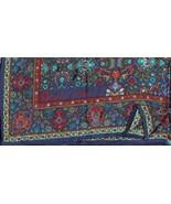 Vintage Anne Klein Paisley Silk Square Scarf Bl... - $15.00