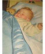 1949 Kenwood Mills Sleeping Baby Boy Print - $9.99