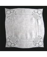 Vintage Bridal Linen Handkerchief Hand Embroid... - $15.00
