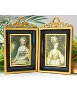 Pair Vintage Miniature Frames Shadow Box Metal ... - $28.95