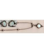 Demi-Parure Opal Sterling 18 inch Pendant Neckl... - $50.00