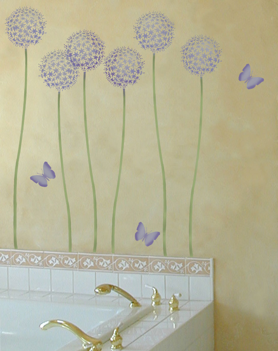 flower stencil allium gladiator reusable wall stencils