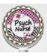 Psych Nurse ID badge holder w retractable reel lp