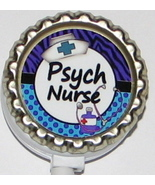 Psych Nurse ID badge holder w retractable reel pb