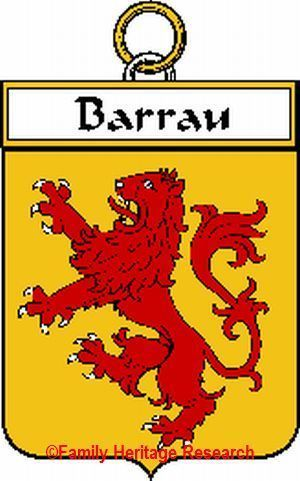 BARRAU French Coat of Arms Print BARRAU Family Crest