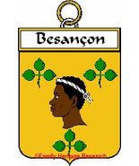 BESANCON French Coat of Arms Print BESANCON Fam... - $25.00